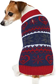 PETBABA Dog Winter Jacket, Christmas Sweater Holiday Coat Warm Pet in Cold Weather Snow Day