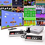 MichPong Retro Game Console with 2 Retro Controllers, Video Game Console Built-in 400 NES Old School Games, AV Output, Ideal Gift for Kids to Adults, Back to Childhood