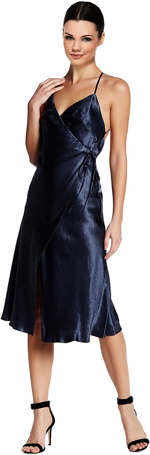 ABS Collection Womens Satin Wrap Slip Dress