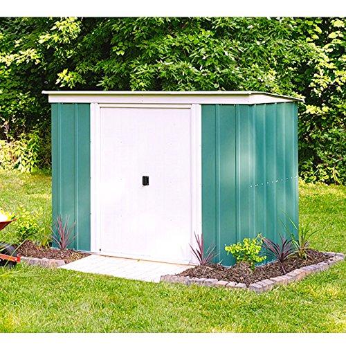 Vitavia Gewächshäuser Arrow Metall-Gerätehaus PT 84 Gartenhaus Schuppen 2,74 m² grün