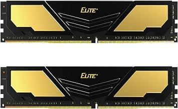 TEAMGROUP Elite Plus DDR4 16GB Kit (2x8GB) 2400MHz PC4-19200 CL16 Unbuffered Non-ECC 1.2V U-DIMM 288 Pin PC Computer Deskt...