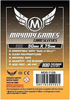 100 Mayday 50 x 75 Custom Card Sleeves Sails of Glory Board Game