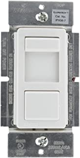 Leviton IPX06-70Z IllumaTech 600VA 277VAC Preset Mark 10 Powerline Fluorescent Slide Dimmer, Single Pole and 3-Way, White/Ivory/Light Almond