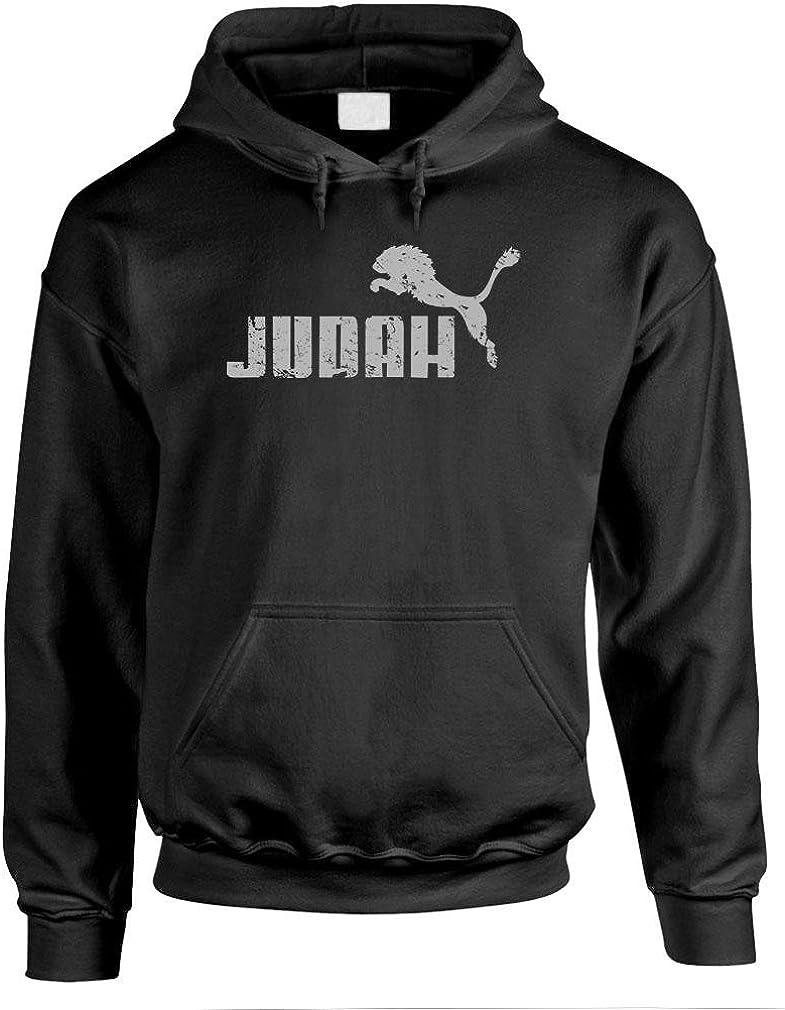 JUDAH Limited time trial price JUMPING Overseas parallel import regular item LION - parody Mens faith Pullover Hoodie savior