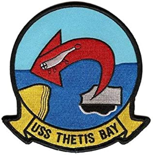 Squadron Nostalgia LLC USS Thetis Bay LPH-6 Patch – Plastic Backing