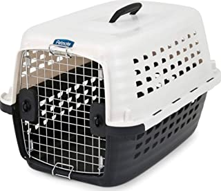 Petmate 41032 Compass Fashion Kennel Cat and Dog Kennel, 10-20 lb, Pearl White/Black
