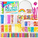 KUUQA 61 Pcs Slime Kit, incluyendo Fishbowl Beads, papel azúcar, rejilla, Googly Eyes, Shell,...