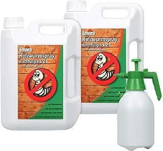 Envira Holzwurm-Spray - Holzwurm Ex Gegen Holzschädigende Insekten - Langzeitschutz & Wasserbasis - 2 x 2L  Sprüher