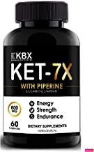 FARGANIC Korbax Biotech Advanced 7x Keto Capsules/Tablets for Loss with L Carnitine and L Tartrate, Coffee, Green Tea and Garcinia Cambogia for Weight for Men and Women (60 Capsules)