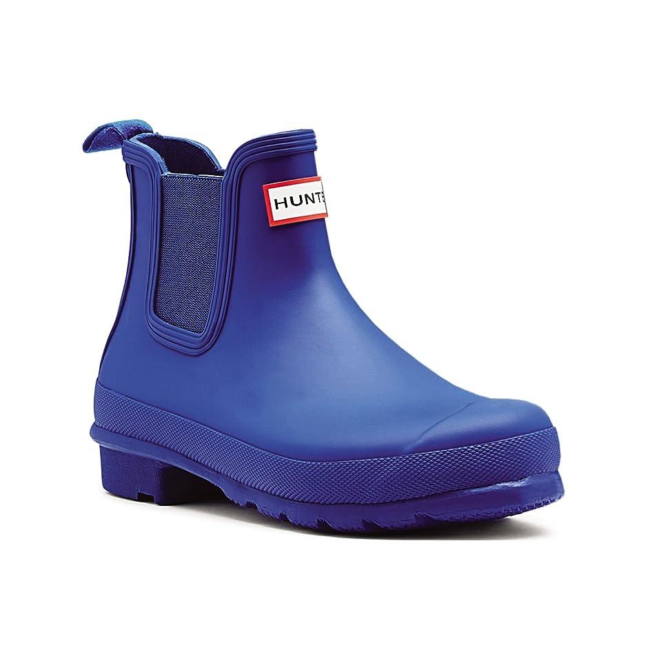 一定メトロポリタン問い合わせ[Hunter] Womens Original Chelsea Wellingtons防水雨アンクルブーツ カラー: ブルー