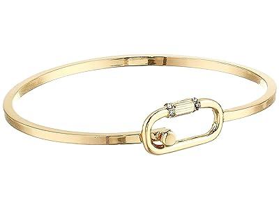 AllSaints Pave Mini Carabiner Bangle (Gold) Bracelet