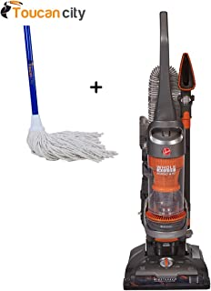 Hoover WindTunnel 2 Whole House Rewind Pet Bagless Vacuum Cleaner UH71255 and Toucan City String Mop