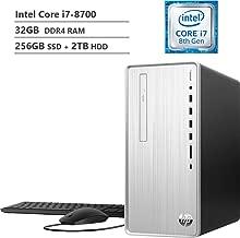 $909 » 2019 HP Pavilion Business Desktop PC, Intel Hexa-Core i7-8700 Processor up to 4.60Ghz, 32GB DDR4 RAM, 256GB SSD + 2TB HDD, DVDRW, HDMI, Wireless-AC, Bluetooth, Multi-Card Reader, Windows 10