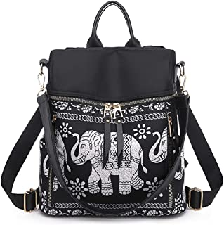 Women Backpack Purse Waterproof Travel Shoulder Handbags Elephant School Bag For Girls