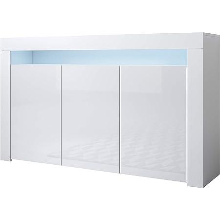 Muebles Bonitos | Buffet Moderne Aker (Blanc, Buffet)