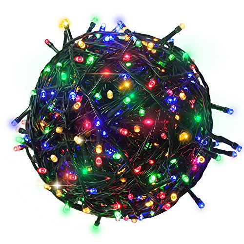 RPGT 1000 LEDs 336ft Green Cable Clear Wire Fairy String Tree Twinkle Lights 8 Modes for Christmas Party, Outdoor, Garden, Wedding, Home Decoration (Multi Color)