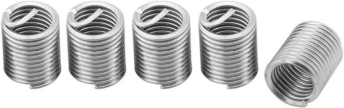Inserções de fio de fio, 60 unidades Kit de reparo de fio de aço inoxidável Bainha de aço Tipo helicoidal para parafuso de...