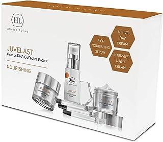 HL Holy Land Cosmetics Juvelast Home Regimen Kit 3 pc. | Rich Nourishing Serum 30ml, Active Dat Cream 50 ml, Intensive Nig...