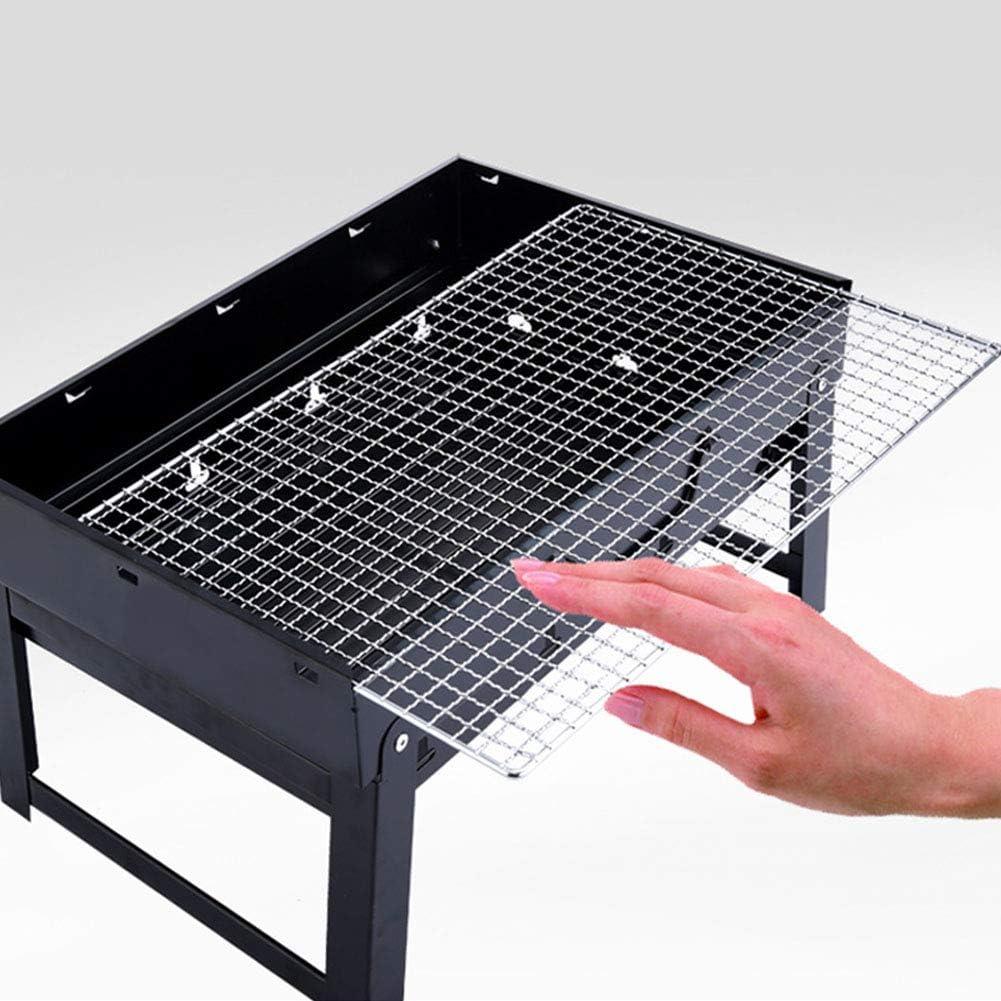 Portable Charcoal Grill Mini Barbecue Table Pique-Nique Grill pour Jardin Extérieur Grill 43 * 29 * 24 CM Noir,L4 L5
