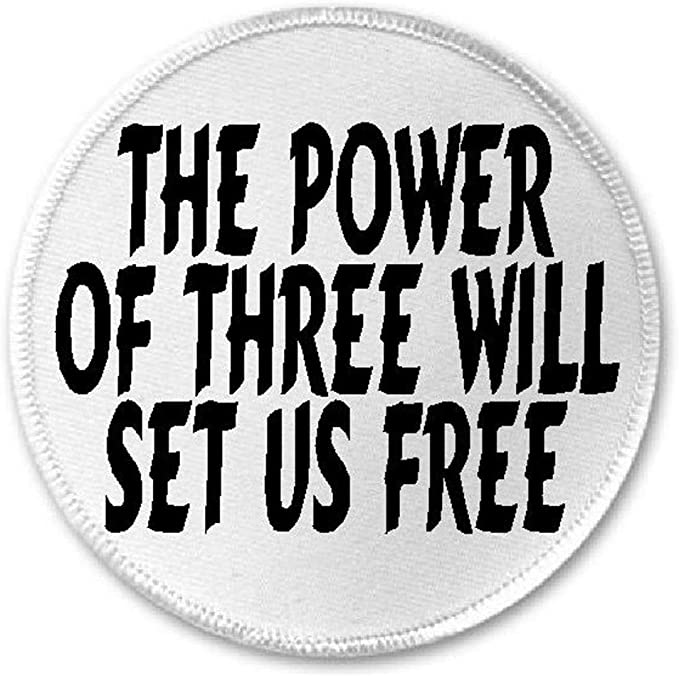 """Charmed TV Series Power of 3 Symbol  3/"""" Tall Embroidered Patch Set of 3 Patches"""