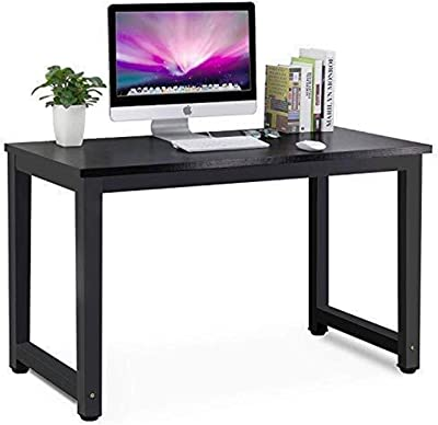 Yyl Compact Corner Computer Desk Modern Simple Style PC Laptop Desktop Study Writing Table Workstation for Home Office 120 X 60 X 73 cm (Black) (Color : Black)