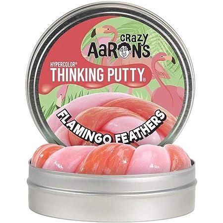【 温めると色の変化!のある シリコン製パティ 】 Crazy Aaron's Putty World シンキングパティ ハイパーカラー シリーズ EU安全規格適合 内容量90g レギュラーサイズ Made in USA 日本正規代理店品 【 フラミンゴ・フェザーズ 】 AB020