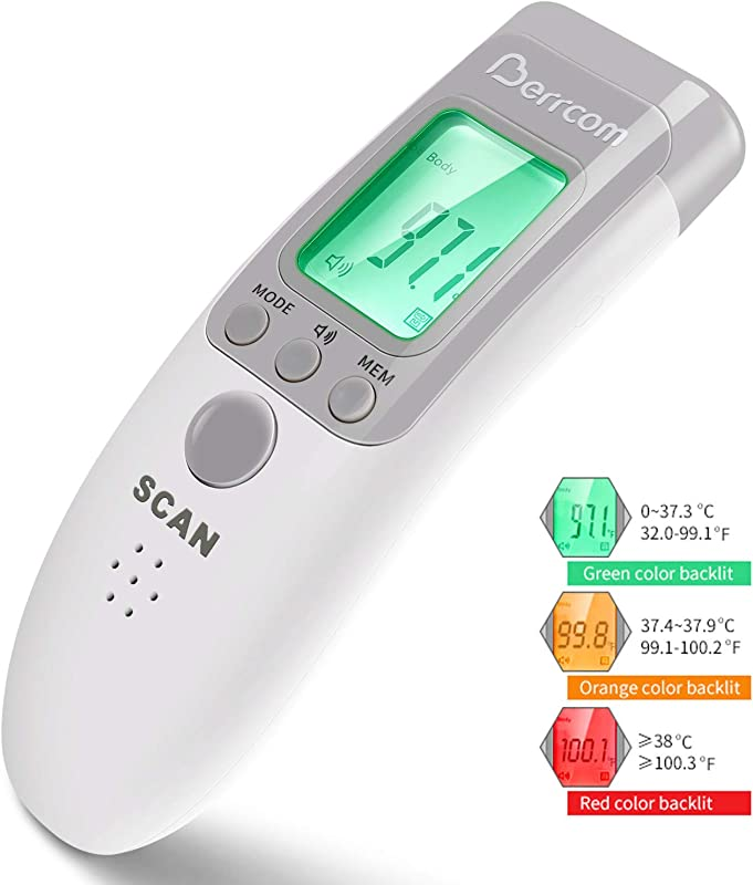 Non Contact Infrared Forehead Thermometer 3 Modes Body Surface Room Temperature Reading Device Baby Thermometer LCD Display Infrared Thermometer CE And FDA Approved