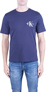 Calvin Klein Jeans Men's MONOGRAM EMBRO REG CHEST SS T-Shirts, Blue (Night Sky 402), Medium