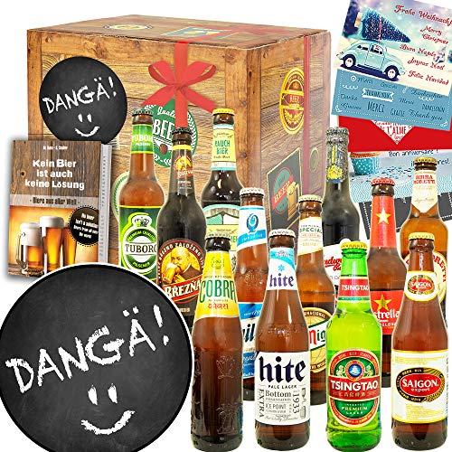 Dangä + Sprüche-Geschenkbox + 12 Biere aus D und aller Welt