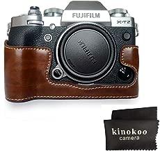 kinokoo Half Case for Fujifilm X-T2 Camera Bottom Open-able Protective Grip  coffee