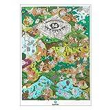 Qapter Rubbelkarte Belohnung Poster 'Dschungel' mit