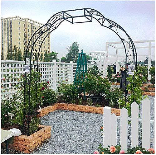 CDFCB Arco de jardín para Escalar Plantas al Aire Libre W150 x H250cm Rose Arbor Trellis 2 Lados Pergola Archway para Bodas Decoración de Fiesta Negro Robusto