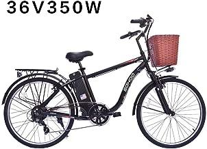 """SOHOO 36V350W10AH 26"""" City EBike Mountion Electric Bike (Black)"""