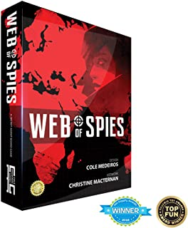 Golden Bell Studios Web of Spies Board Game, Red