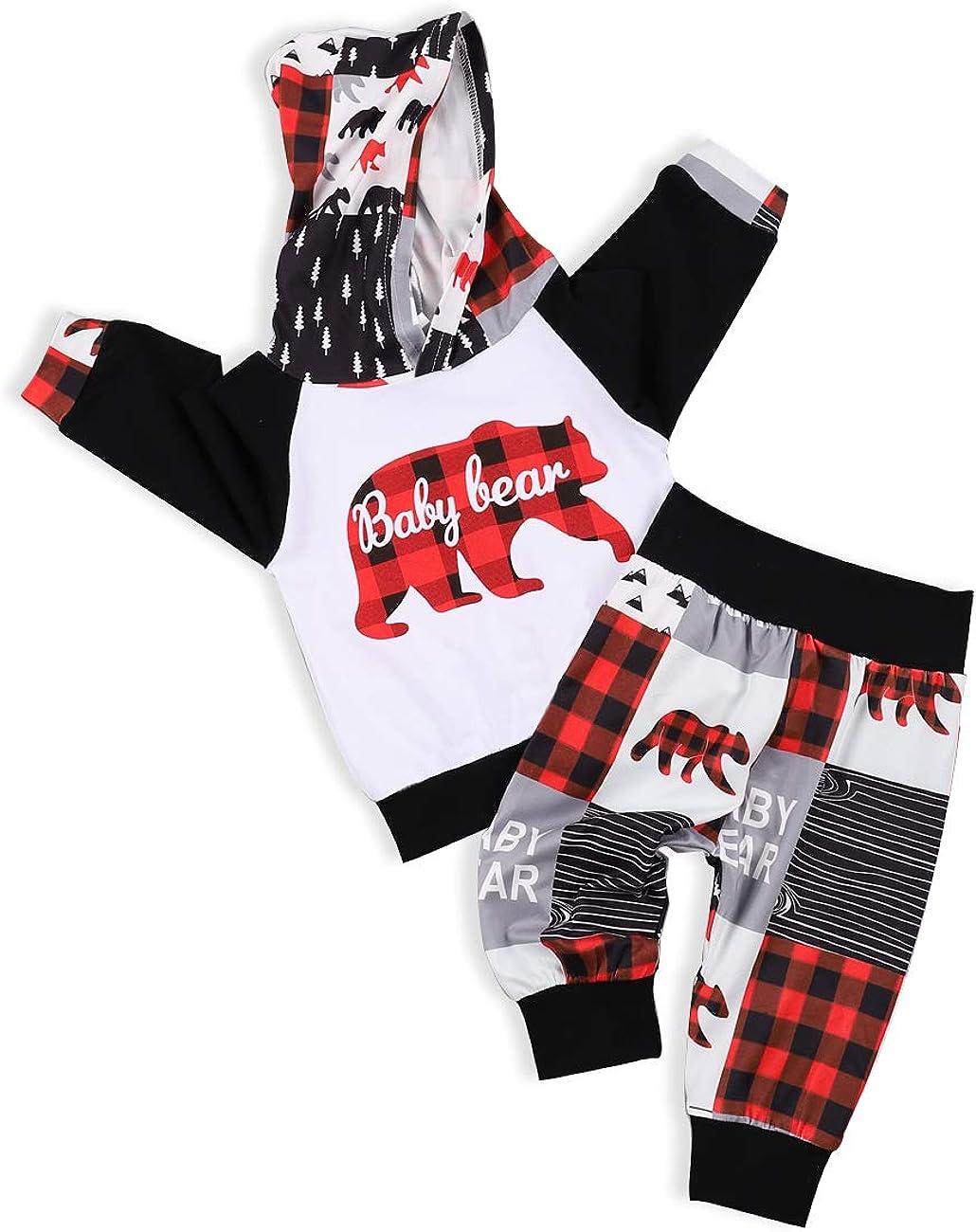 Baby Boys ClothesToddler Boy Hoodie Pants Set Long Sleeves Sweatshirt Outfit