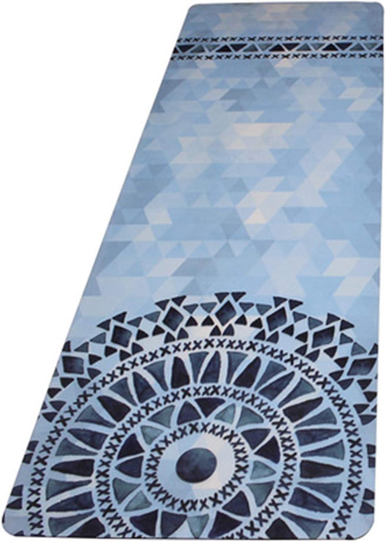 WZHYOGAMAT Fitnessmatte Naturkautschuk Yoga-Matte Synthetisches Wildleder HochtemperaturBestendige Rutschfeste 183X61X0,5 cm