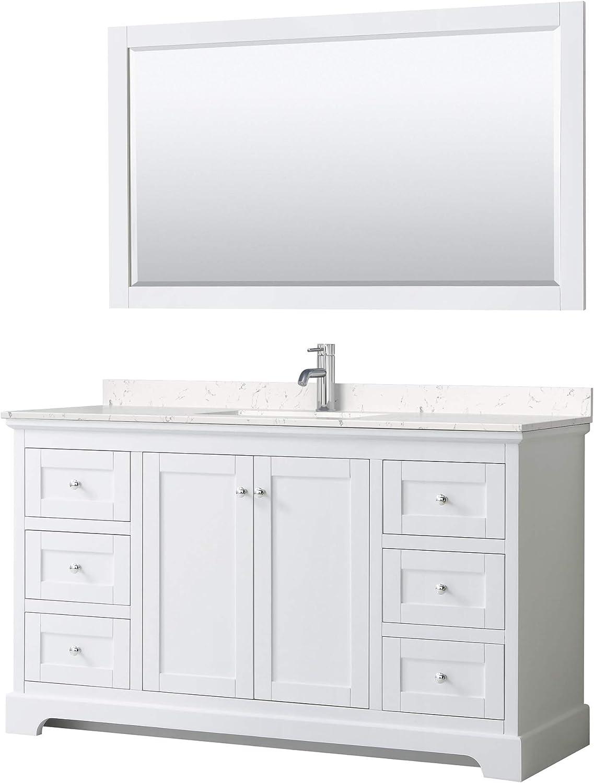 Avery High material 60 Inch Single Bathroom in Max 48% OFF White Light-Vein Carrar Vanity