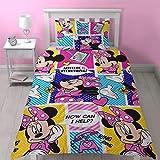 Disney Juego de edredón Simple de Minnie Mouse con diseño de impresión...