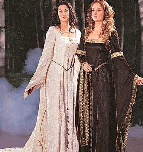 McCall 's Cosplay Damen Schnittmuster 2044historischen quadratisch Ausschnitt Kleider mit Schleppe