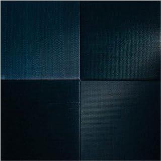 BJDesign Tatami Lot de 4 tapis de sol en herbe Igusa finement tissé et coussin de futon – Parfum frais, antidérapant, abso...