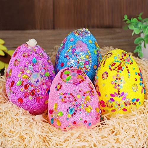 Anyingkai 4pcs Oeufs de Pâques Bricolage,Colorant Oeuf de Paques,Oeuf de Paques a Decorer,Oeufs de Paques Decoration,Oeufs de Pâques à Décorer,Oeuf de Paques