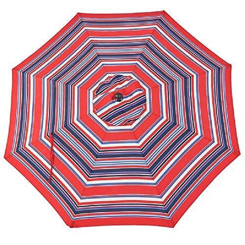 MLL Sombrilla de jardín con manivela, sombrilla de Playa Octogonal inclinable para Patio al Aire Libre, terraza, Piscina, Rayas de Colores