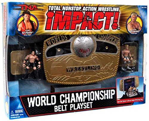 Total Non Stop Action TNA World Wrestling Championship Belt Playset - Include...