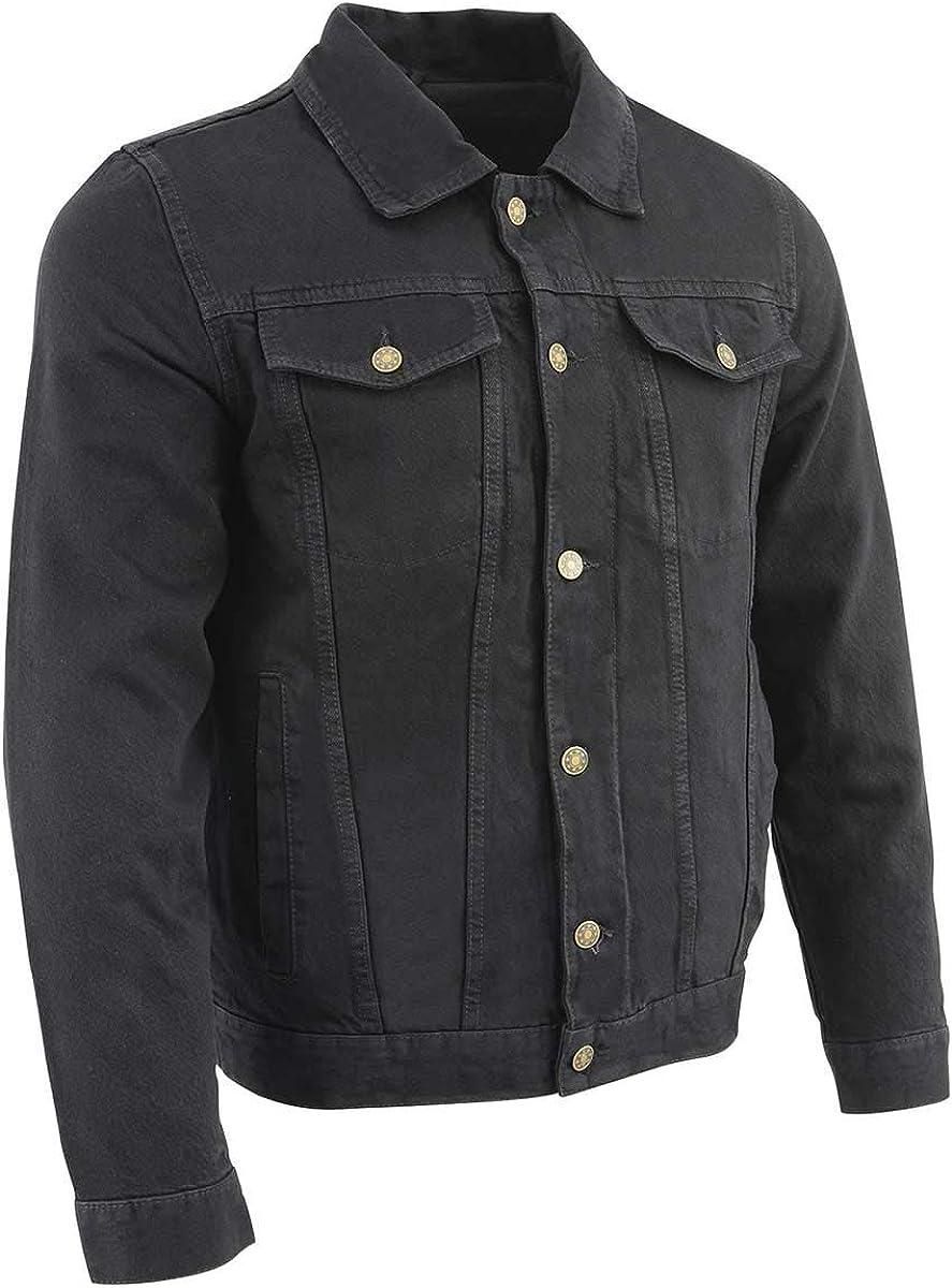 Milwaukee Leather MDM1015 Men's Black Classic Denim Jean Jacket