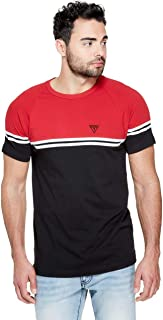 GUESS Factory Men's Kido Color-Block Stripe Crewneck Short Sleeve Tee
