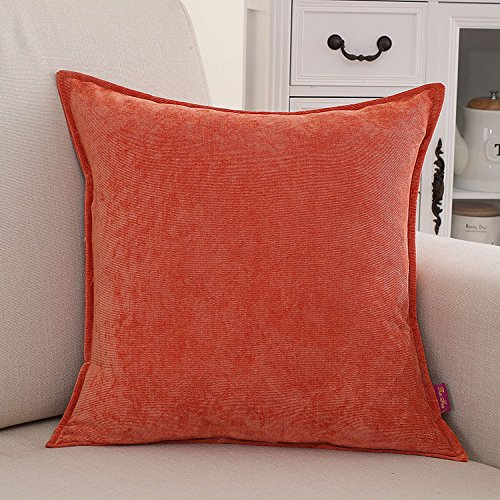 Teebxtile Haut confort velours Velvet Back support berceau en peluche couleur solide oreiller-, 30x50cm (sans cellule), orange