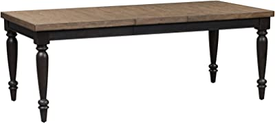 Liberty Furniture Industries Harvest Home Rectangular Leg Table, W40 x D82 x H30, Black/Brown