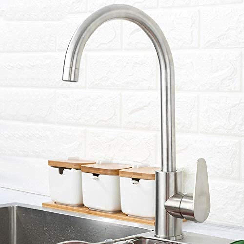 Küchenmischer 304 Edelstahl Einhand Einlochmontage Küchenmischer Wasserhahn Spüle Moderne Küchenarmatur Warmes und kaltes Wasser