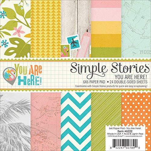 Eenvoudige verhalen eenvoudige verhalen dubbelzijdig papier pad 6-inch x 6-inch 2-U bent hier,