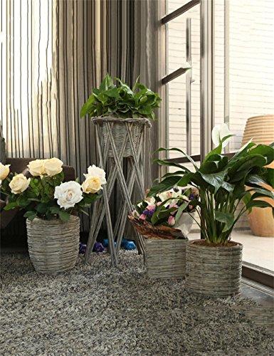 XYZ Creativo Retro Willow Vasi di fiori, Rack Fiore, cesti di fiori, Planter Fiore delicato durevole ( stile : A )